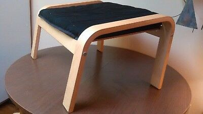 Danish Modern Large Footstool Scandenavian Design 4 Ikea Curved Plywood Ottoman