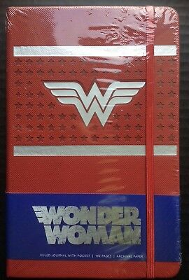 WONDER WOMAN RULED JOURNAL HARDCOVER Book DC NEW Fast Free Shipping NEW!