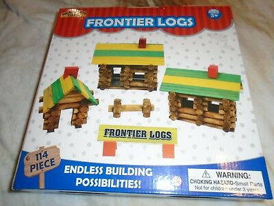 """ideal Frontier Logs Real Wood"" 114 Pieces New"