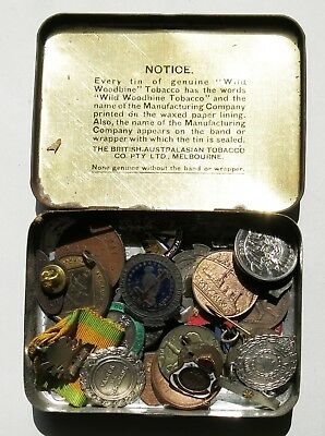 Assorted Australian Pins Badges Medals Tokens. ANZAC Female Relative, Trench Art