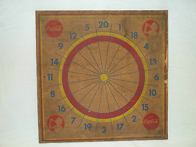 Very Rare  Coca-Cola Dartboard / Baseball Game Board