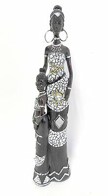African Queen Figurine Sculpture 12 Inch Free Shipping (USA Seller)