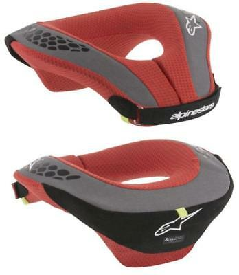 Alpinestars YOUTH Sequence Neck Support Roll Black Red Motocross Protection