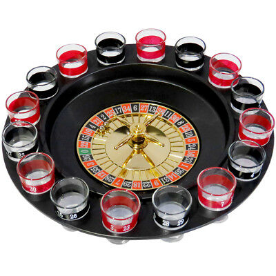 Evelots Drinking Game Glass Roulette - 2 Balls & 16 Glasses - Casino Style