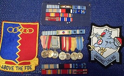 Patches and medals etc to US 2 war veteran
