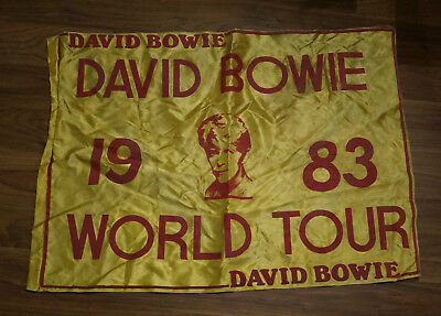 David Bowie 1980 tour flag,original, rare and in excellent condition