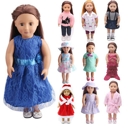 US Doll Clothes Dress Outfits Pajames For 18 inch American Girl Our Generation k
