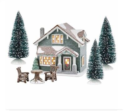 DepartMent 56 Powderhorn House Set, Winters Frost, Free Shipping