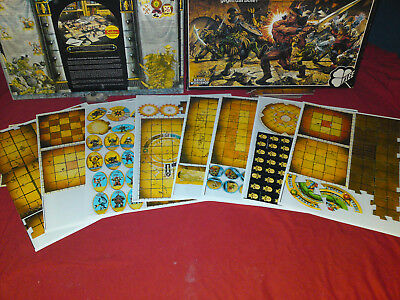 Advanced Hero Quest / Herr des Schwertes Only Board Tiles Complete wie Morcars