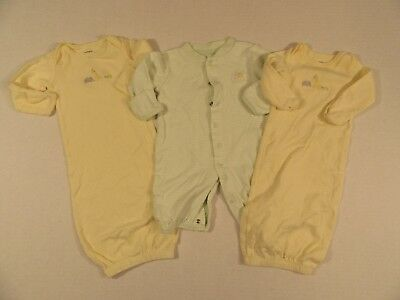 Lot of 3 Newborn Gowns and Bodysuit Pre-owned Carter's
