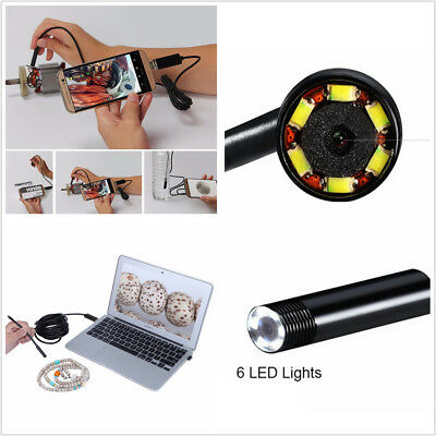 2017 Newest 2IN1 Android&PC Endoscope Borescope Inspection Wire Camera 6LED IP67