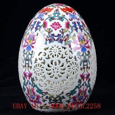 Chinese Porcelain Handwork Carved Hollow Toothpick Box W Qianlong Mark  CQLK19