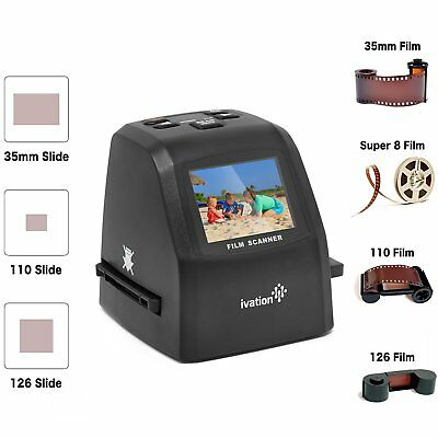 Ivation 22MP Digital Film Scanner and Converter, Includes Speed Load Adapters