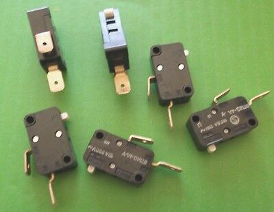Microswitch 10A 250 Normally Open SPDT V3 Micro Switch 6TMG4AY x 10pcs @ £0.10p