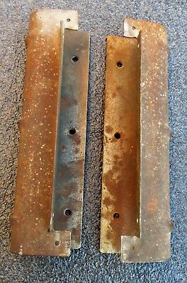 Pair Of Steel Hoosier Kitchen Cabinet Side Brackets