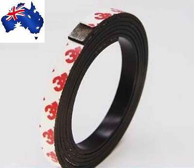 1 Meter self Adhesive Flexible Magnetic Strip Rubber Magnet Tape width10mm x 2mm