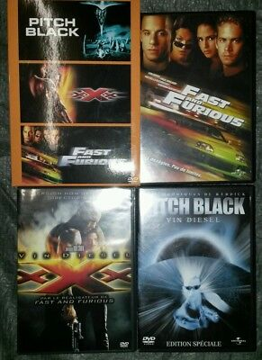 Coffret 3 DVD Pitch black, XXX, Fast and Furious comme neuf