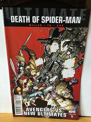 Ultimate Death of Spider-man #1 Marvel NM Avengers vs New Ultimates
