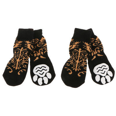 4x Elastic Dog Socks Puppy Anti-slip Boots Paw Protection Waterproof Extra Large