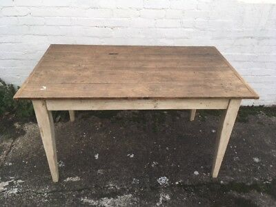 Antique Vintage Shabby Chic French Country Pine Farmhouse Kitchen Dining Table