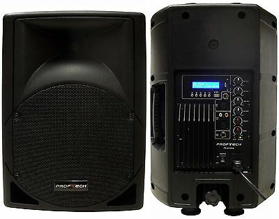 "New 10"" 550W Professional PA,DJ Powered Speaker USB/SD,Mic.RCA Input LCD Screen"