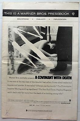 """1967 A Covenant with Death pressbook and insert 11"""" x 17"""" 16pgs"""
