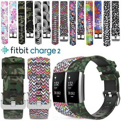 New Replace Soft Silicone Sports Watch Band Fashion Strap For Fitbit Charge 2