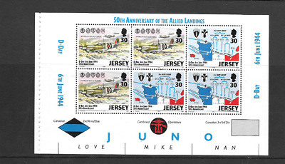 JERSEY 1994 D - Day Anniversary Prestige Stamp Booklet 30p Pane SG 663a - u/m