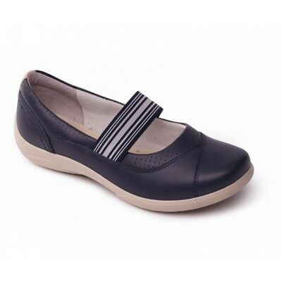 dc7f0791 Padders JADE Ladies Womens Leather Extra Wide Fit (3E/4E) Mary Jane Shoes