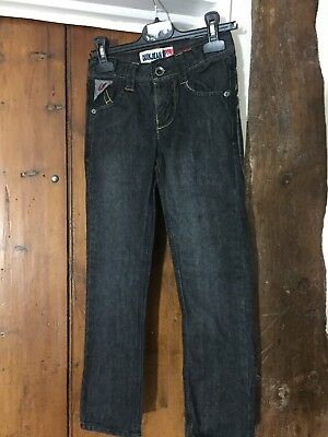 Boys Quicksilver slim fit black denim jeans age 8 years - HARDLY WORN