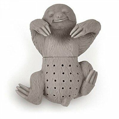 Crative Silicone Gray Sloth Tea Strainer Herbal Infuser Diffuser Filter