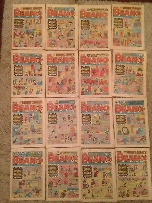 Beano Comics 1980 Job Lot. Includes Free Gifts! Gnasher Snapper and Glove Puppet