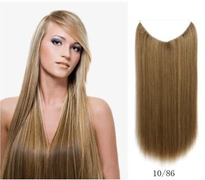 Long Straight Secret Invisible Fish Wire Hair Piece Hair Extensions Synthetic