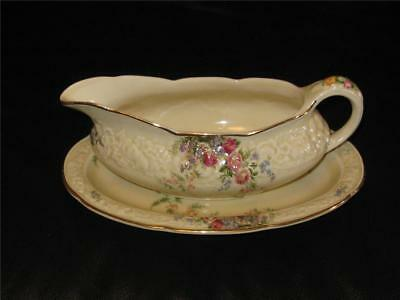 Gorgeous Vintage Crown Ducal Rosalie Gravy Boat And Saucer.