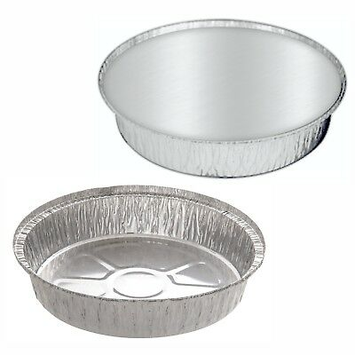 Aluminium Foil Food Containers Round For Home And Takeaway Use Lids Trays Hot