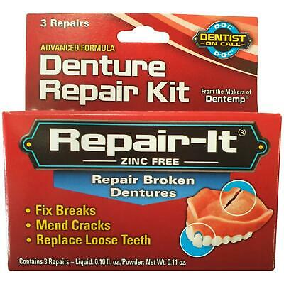 Dentemp D.O.C Denture Repair Kit 1 2 3 6 12 Packs