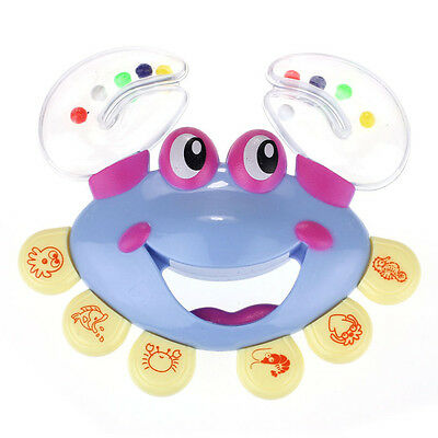 Kids Baby Crab Design Handbell Musical Instrument Jingle Rattle Toy Y2