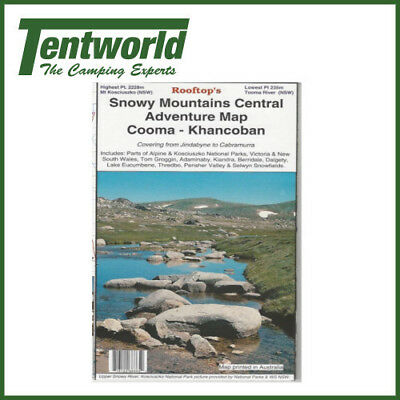 Rooftop Snowy Mountains Central - Cooma - Khancoban Map - Edition 1