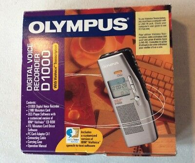olympus d1000 digital voice recorder w all accessories 16 00 rh picclick com Olympus WS 700M Digital Voice Recorder Manual Olympus Digital Voice Recorder WS-400S Manual