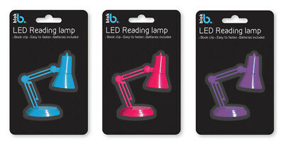 LED Mini Reading Travel Desk Light Lamp with Book Clip *Batteries Included* BLOK