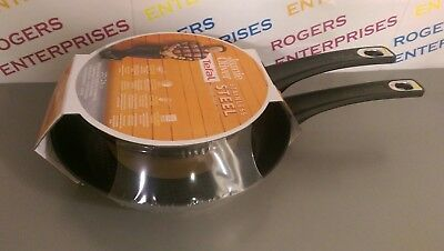 Tefal Jamie Oliver Set of 2 Stainless Steel 20 & 26cm Frying Pans Induction OK