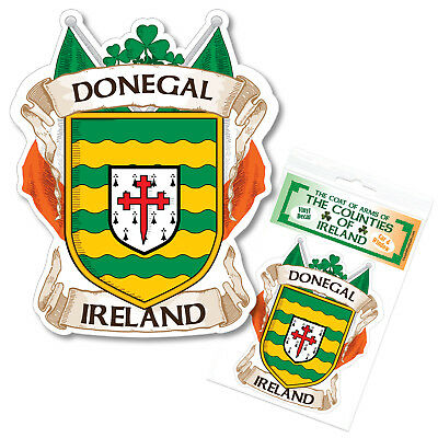 Donegal Ireland County Decal Sticker Irish GAA Auto
