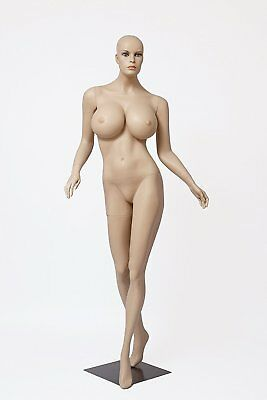 Realistic Female Mannequin, Includes Wig, Large Breasts Made of Fiberglass (lcy2