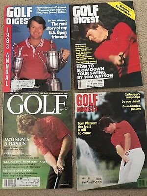 Lot Of 4 Vintage Golfing Magazines Featuring Tom Watson (Free Shipping)