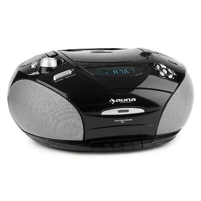 Auna Boombox Stereo Radio Boombox Cd Mp3 Lettore Cd Ingresso Usb Radio Ouc Nero