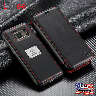 Luxury Magnetic Flip Wallet Case Leather Detachable Cover For Samsung Note 8 S8