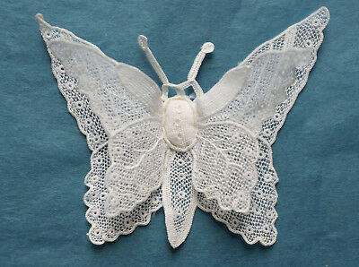 Antique hand made needle lace butterfly