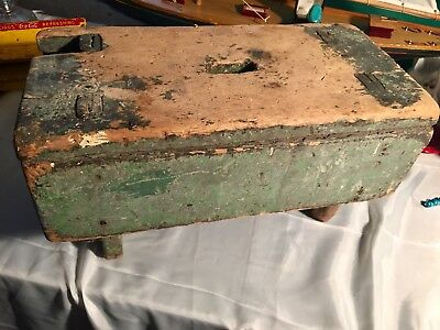 Crazy Primitive Milking Stool Old Green Paint Right Off The farm!