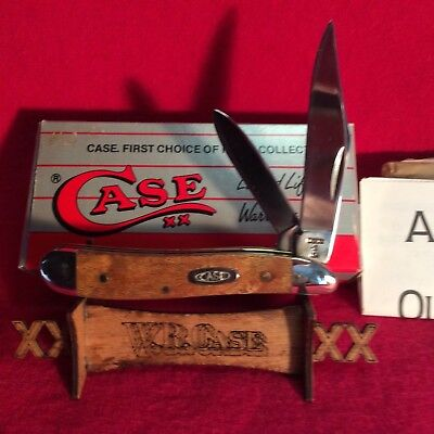CASE XX 1 dot USA knife 7220 Peanut CURLY MAPLE  (VINTAGE)  1989   NEW