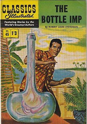 Classics Illustrated Number 45. The Bottle Imp.  Strato. Uk Edition